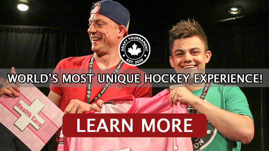 Come to world's most unique hockey experience, the Draft Tournament
